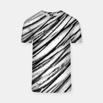 Thumbnail image of White and Black Modern Zebra Print T-shirt, Live Heroes