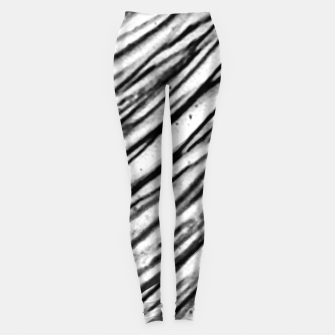 Thumbnail image of White and Black Modern Zebra Print Leggings, Live Heroes