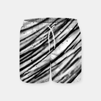 Thumbnail image of White and Black Modern Zebra Print Swim Shorts, Live Heroes