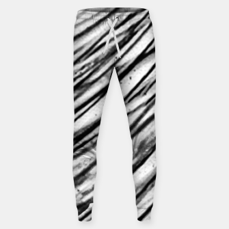 Thumbnail image of White and Black Modern Zebra Print Sweatpants, Live Heroes