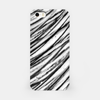 Thumbnail image of White and Black Modern Zebra Print iPhone Case, Live Heroes