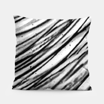 Thumbnail image of White and Black Modern Zebra Print Pillow, Live Heroes