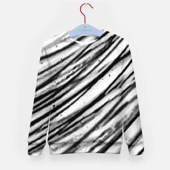 Thumbnail image of White and Black Modern Zebra Print Kid's sweater, Live Heroes