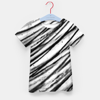 Thumbnail image of White and Black Modern Zebra Print Kid's t-shirt, Live Heroes