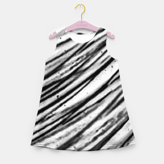 Thumbnail image of White and Black Modern Zebra Print Girl's summer dress, Live Heroes