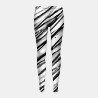 Thumbnail image of White and Black Modern Zebra Print Girl's leggings, Live Heroes