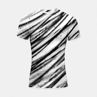 Thumbnail image of White and Black Modern Zebra Print Shortsleeve rashguard, Live Heroes