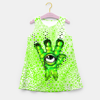 Miniaturka They Are Here Grid Girl's summer dress, Live Heroes