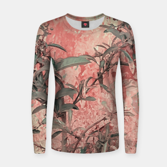 Thumbnail image of Botanic Grunge Motif Artwork Women sweater, Live Heroes