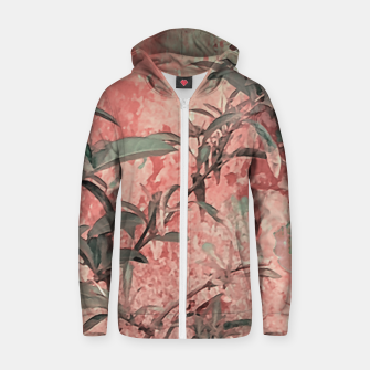 Thumbnail image of Botanic Grunge Motif Artwork Zip up hoodie, Live Heroes