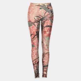 Thumbnail image of Botanic Grunge Motif Artwork Leggings, Live Heroes