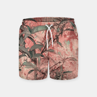 Thumbnail image of Botanic Grunge Motif Artwork Swim Shorts, Live Heroes