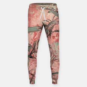 Thumbnail image of Botanic Grunge Motif Artwork Sweatpants, Live Heroes