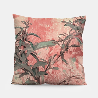 Thumbnail image of Botanic Grunge Motif Artwork Pillow, Live Heroes