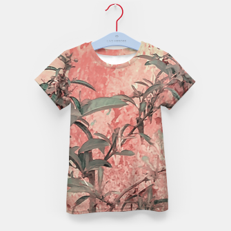 Thumbnail image of Botanic Grunge Motif Artwork Kid's t-shirt, Live Heroes