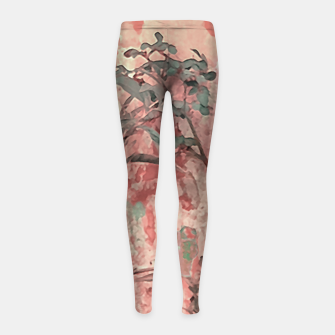 Thumbnail image of Botanic Grunge Motif Artwork Girl's leggings, Live Heroes