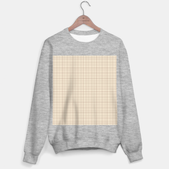 Thumbnail image of Small rust grid pattern on beige Sweater regular, Live Heroes