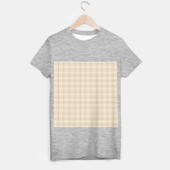 Thumbnail image of Small rust grid pattern on beige T-shirt regular, Live Heroes