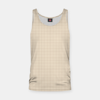 Thumbnail image of Small rust grid pattern on beige Tank Top, Live Heroes