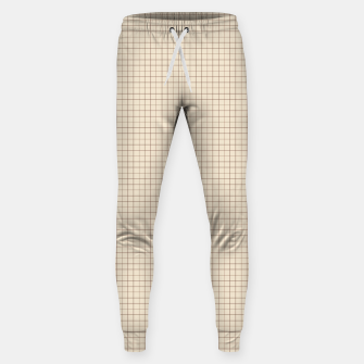 Thumbnail image of Small rust grid pattern on beige Sweatpants, Live Heroes