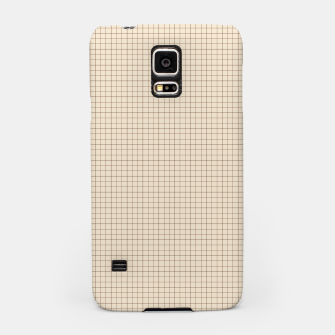 Thumbnail image of Small rust grid pattern on beige Samsung Case, Live Heroes