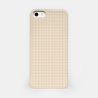 Thumbnail image of Small rust grid pattern on beige iPhone Case, Live Heroes