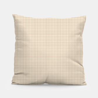 Thumbnail image of Small rust grid pattern on beige Pillow, Live Heroes