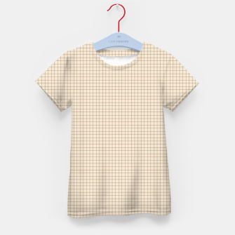 Thumbnail image of Small rust grid pattern on beige Kid's t-shirt, Live Heroes