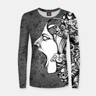 Miniatur Scream Doodles BW Women sweater, Live Heroes