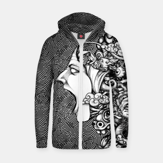 Miniatur Scream Doodles BW Zip up hoodie, Live Heroes