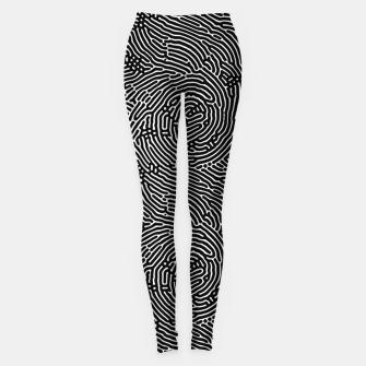 Miniatur Scream Doodles BW Leggings, Live Heroes