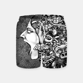 Miniatur Scream Doodles BW Swim Shorts, Live Heroes