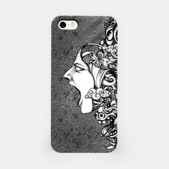 Miniatur Scream Doodles BW iPhone Case, Live Heroes