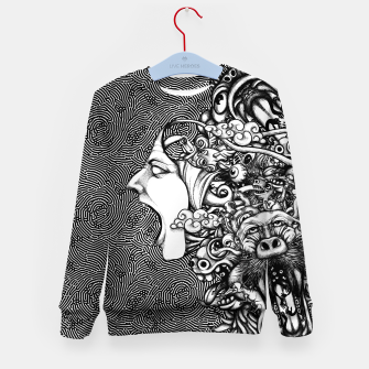 Miniatur Scream Doodles BW Kid's sweater, Live Heroes