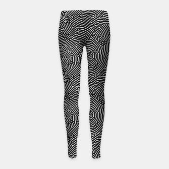 Miniatur Scream Doodles BW Girl's leggings, Live Heroes