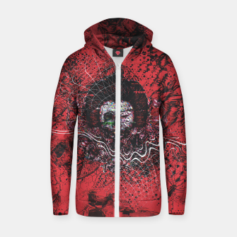 Thumbnail image of Cyber Glitch Zip up hoodie, Live Heroes