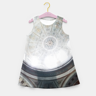 Miniatur Scaffolded Dome of the Basilica of Esztergom Girl's summer dress, Live Heroes