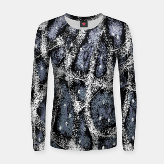 Thumbnail image of Glitchy Grunge Abstract Print Women sweater, Live Heroes
