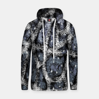 Thumbnail image of Glitchy Grunge Abstract Print Hoodie, Live Heroes