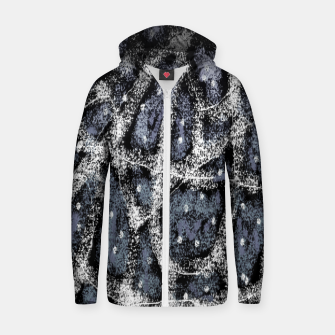 Thumbnail image of Glitchy Grunge Abstract Print Zip up hoodie, Live Heroes