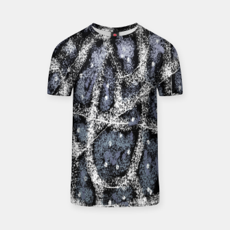 Thumbnail image of Glitchy Grunge Abstract Print T-shirt, Live Heroes