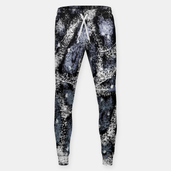 Thumbnail image of Glitchy Grunge Abstract Print Sweatpants, Live Heroes