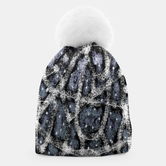 Thumbnail image of Glitchy Grunge Abstract Print Beanie, Live Heroes