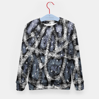 Thumbnail image of Glitchy Grunge Abstract Print Kid's sweater, Live Heroes