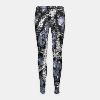 Thumbnail image of Glitchy Grunge Abstract Print Girl's leggings, Live Heroes