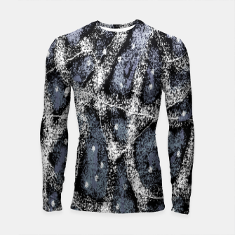 Thumbnail image of Glitchy Grunge Abstract Print Longsleeve rashguard , Live Heroes
