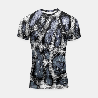 Thumbnail image of Glitchy Grunge Abstract Print Shortsleeve rashguard, Live Heroes