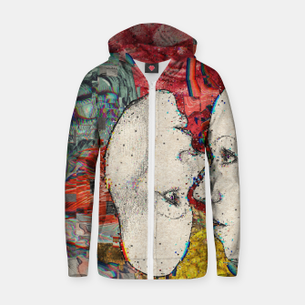 Thumbnail image of Mirror Glitch Zip up hoodie, Live Heroes