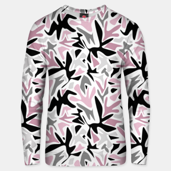abstract, daub pink, gray and pink, geometric Unisex sweater thumbnail image