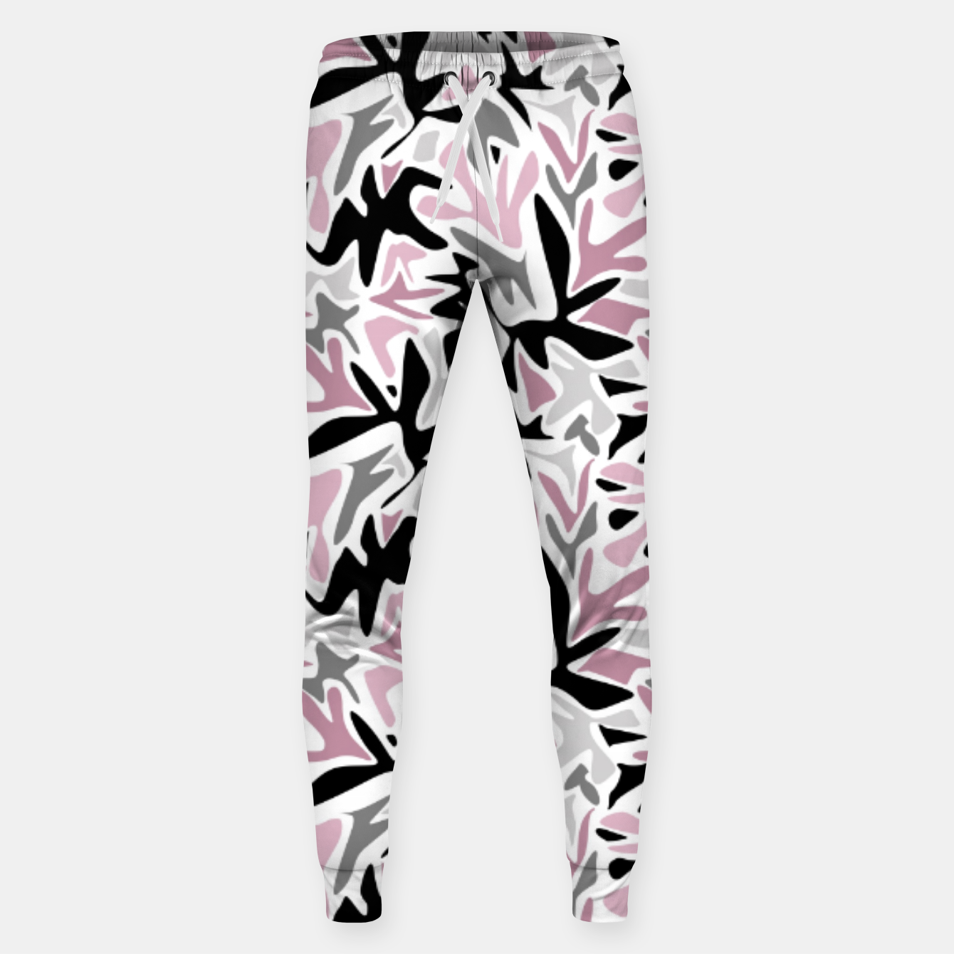 Image of abstract, daub pink, gray and pink, geometric Sweatpants - Live Heroes
